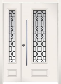 דלת מדגם: דלת כניסה מעוצבת דגם B6004