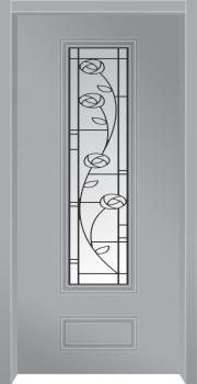 דלת מדגם: דלת כניסה מעוצבת דגם B6007
