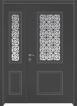 דלת מדגם: דלת כניסה מעוצבת דגם B7004