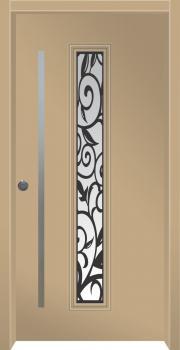 דלת מדגם: דלת כניסה מעוצבת דגם B9001