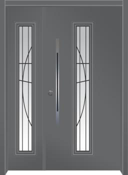 דלת מדגם: דלת כניסה מעוצבת דגם B9004